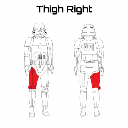 ORIGINAL STORMTROOPER ARMOUR PARTS [Thigh Right]